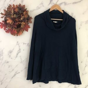 Eileen Fisher Cowl Neck Sweater in Navy Blue
